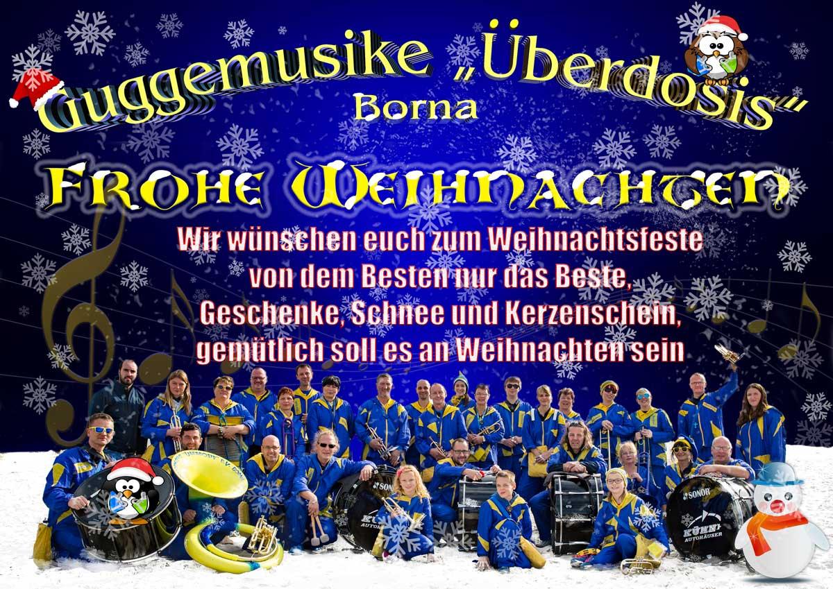 Frohe Weihnachten Guggemusik Überdosis e.V.